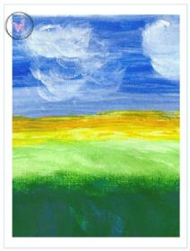 Art Greeting Card - Landscape 1